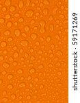 water drops on orange | Shutterstock . vector #59171269