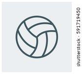 volleyball ball vector... | Shutterstock .eps vector #591719450