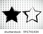 stamps collection. grunge stars ...