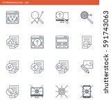 vector eps icons set  ... | Shutterstock .eps vector #591743063