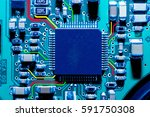 Close Up Of Electronic Circuit...