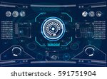 radar screen. vector... | Shutterstock .eps vector #591751904