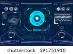 radar screen. vector... | Shutterstock .eps vector #591751910
