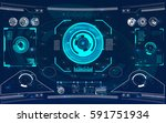 radar screen. vector... | Shutterstock .eps vector #591751934