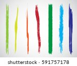 set of grunge brush strokes | Shutterstock .eps vector #591757178