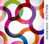 rainbow loops  abstract... | Shutterstock . vector #591757658