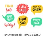 sale banner template elements... | Shutterstock .eps vector #591761360