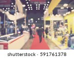 blur event technology fair with ... | Shutterstock . vector #591761378