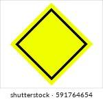 blank road sign | Shutterstock . vector #591764654
