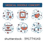 doodle vector illustrations of... | Shutterstock .eps vector #591774143