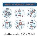 doodle vector illustrations of... | Shutterstock .eps vector #591774173