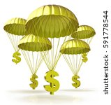 golden parachutes. dollar signs ... | Shutterstock . vector #591778544