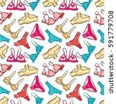 women underwear  panties and... | Shutterstock .eps vector #591779708