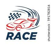 race car logo   Shutterstock .eps vector #591782816