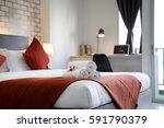 Stock photo bedroom hotel 591790379