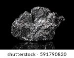 rough mineral stone of graphite ... | Shutterstock . vector #591790820