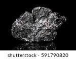 rough mineral stone of graphite ... | Shutterstock . vector #591790820