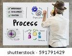business execution...   Shutterstock . vector #591791429