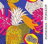 floral pattern background.... | Shutterstock .eps vector #591816239