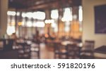blurred bokeh of the dining... | Shutterstock . vector #591820196