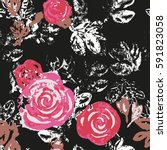 Roses. Seamless Floral Pattern...