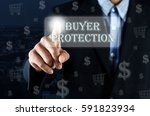 business man pointing his hand... | Shutterstock . vector #591823934