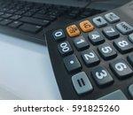 calculator and keybaord | Shutterstock . vector #591825260