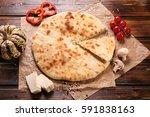 traditional ossetian  a region... | Shutterstock . vector #591838163