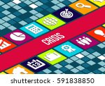 crisis concept image  | Shutterstock . vector #591838850