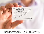 closeup on businessman holding... | Shutterstock . vector #591839918