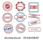 set of various start stamps | Shutterstock .eps vector #591845849