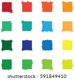 abstract square shapes   vector ... | Shutterstock .eps vector #591849410