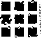 abstract square shapes   vector ... | Shutterstock .eps vector #591849428