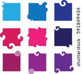 abstract square shapes   vector ... | Shutterstock .eps vector #591849434