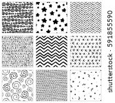 a set of hand drawn vector... | Shutterstock .eps vector #591855590