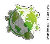 green energy ecology icon... | Shutterstock .eps vector #591857348