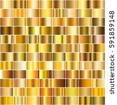 vector set of gold gradients.... | Shutterstock .eps vector #591859148