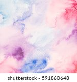 abstract hand  drawn watercolor.... | Shutterstock . vector #591860648