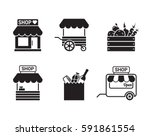 store  shop or market icon....   Shutterstock .eps vector #591861554