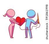 vector cartoon image of a... | Shutterstock .eps vector #591861998