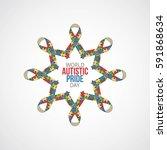 world autistic pride day vector ...   Shutterstock .eps vector #591868634