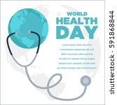 world health day poster design. ... | Shutterstock .eps vector #591868844