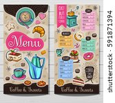coffee shop menu template  cafe ... | Shutterstock .eps vector #591871394