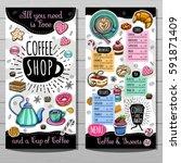 coffee shop menu template  cafe ... | Shutterstock .eps vector #591871409