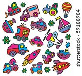 drawings in a children's style... | Shutterstock .eps vector #59188984
