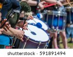 traditional scottish pipe band... | Shutterstock . vector #591891494