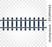 isolated rails  railway top... | Shutterstock .eps vector #591894464