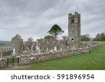 Small photo of Hill of Slane church ruins. Co. Meath, Ireland. February 2017