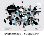 vector of abstract geometric... | Shutterstock .eps vector #591898244