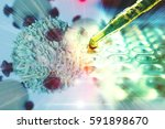 gene therapy for cancer... | Shutterstock . vector #591898670